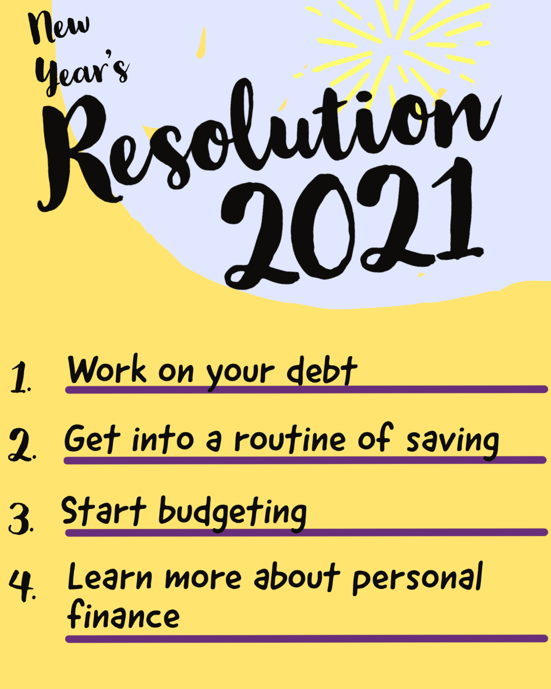 4 Financial New Year's Resolutions for 2021